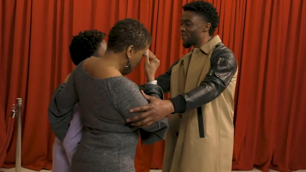 Chadwick Boseman verrast fans die hem bedanken voor Black Panther