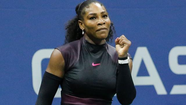 Serena Williams moeizaam naar halve finales US Open