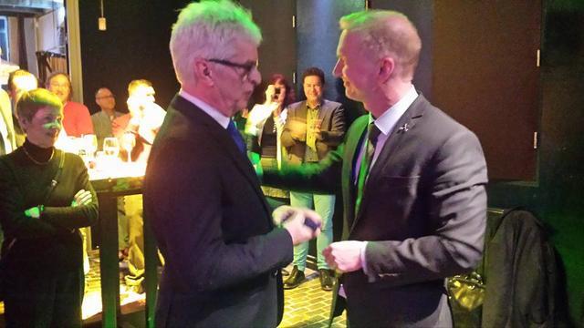Verplancke ontvangt Jan van Hout Penning tijdens afscheidsbijeenkomst