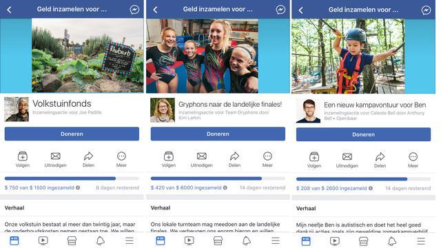Facebook laat Nederlanders geld inzamelen voor persoonlijke doelen