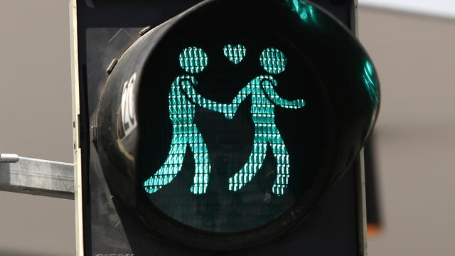 Homoparen te zien als voetgangerslichten in Wenen