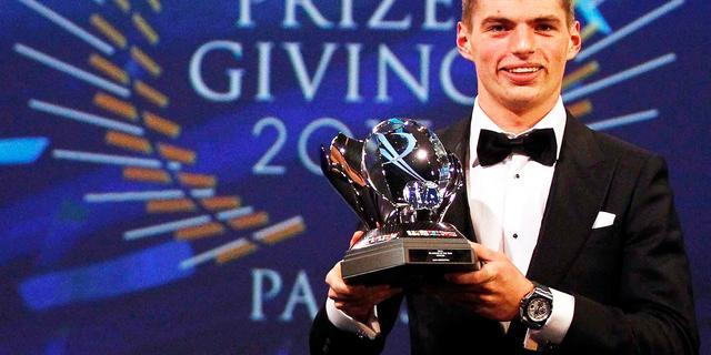 Verstappen ook bij autosportgala verkozen tot 'rookie' van het jaar