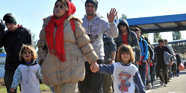 In drie weken honderdduizend vluchtelingen naar Kroatië