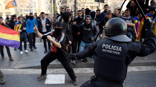 'Vier mensen opgepakt na ongeregeldheden bij Catalaanse protesten'