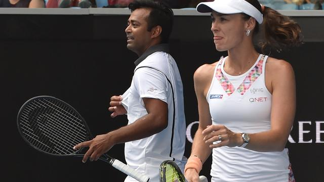 Hingis strandt in gemengd dubbel op Australian Open