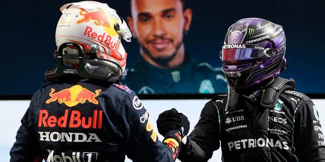 Hamilton wint in Portugal, Verstappen beperkt schade met tweede plaats