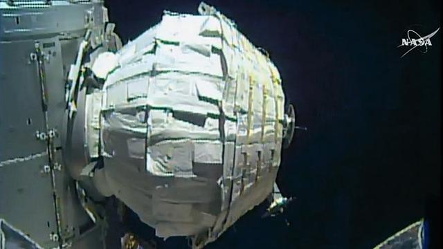 NASA slaagt in opblazen extra kamer ruimtestation ISS