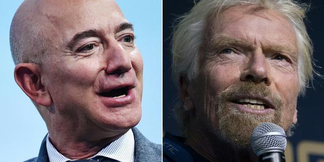 Richard Branson wint 'Space Race' van Bezos: 9 dagen eerder naar de ruimte