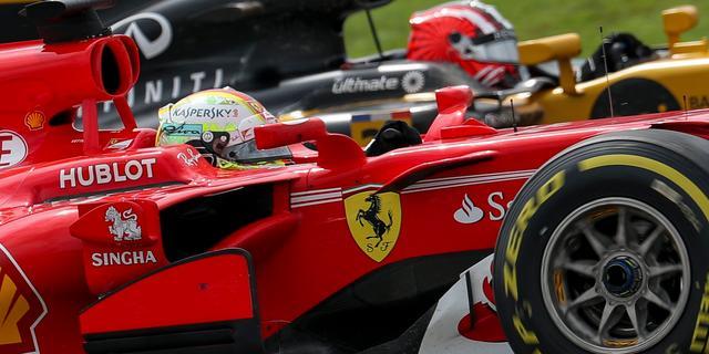 Vettel gelooft ondanks gat van 34 punten nog in vijfde wereldtitel
