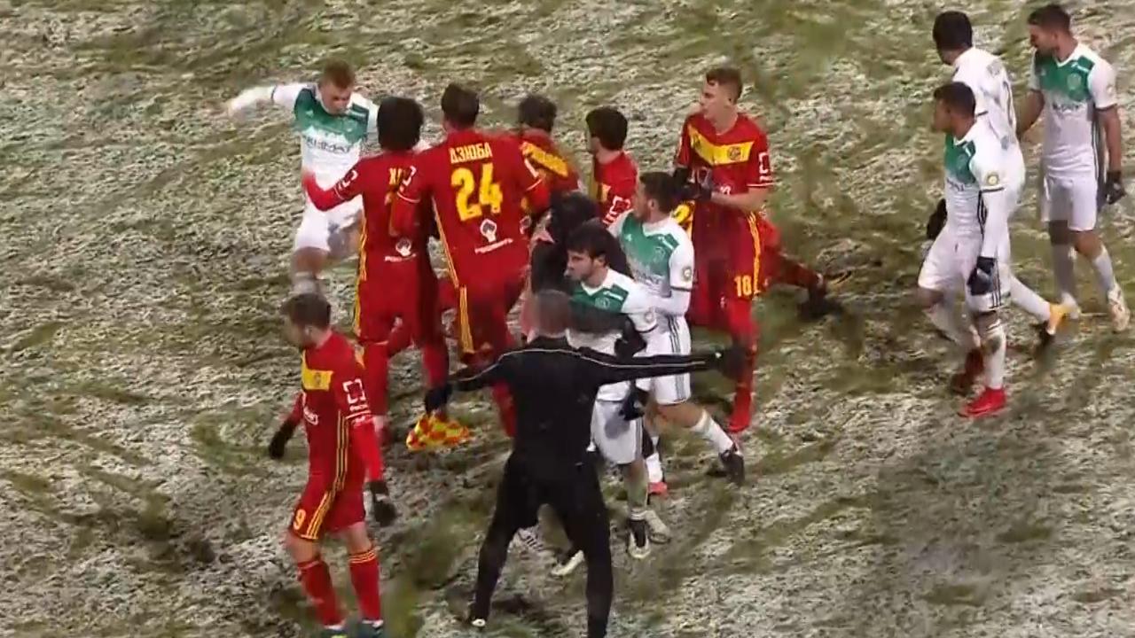 Vechtpartij in Rusland na 'onsportieve' goal