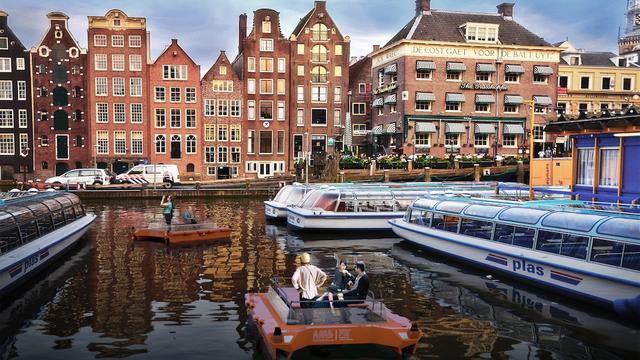 Wetenschappers testen zelfsturende boten in Amsterdamse grachten