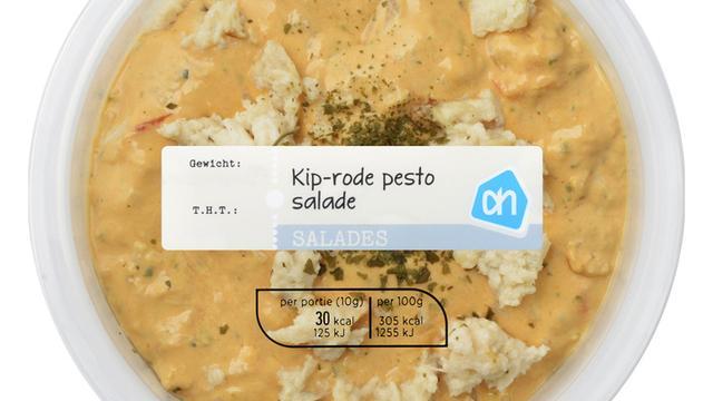 Albert Heijn roept Kip-rode pesto salade terug