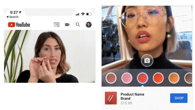 YouTube laat gebruikers make-up testen via augmented reality