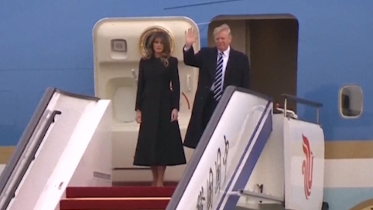 Trump komt aan in China