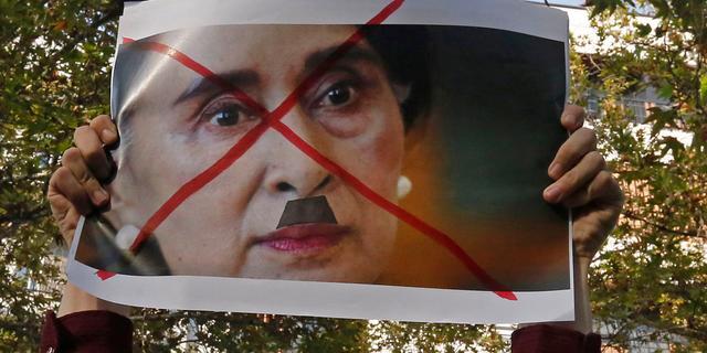 Aung San Suu Kyi niet naar VN-vergadering vanwege crisis in Myanmar