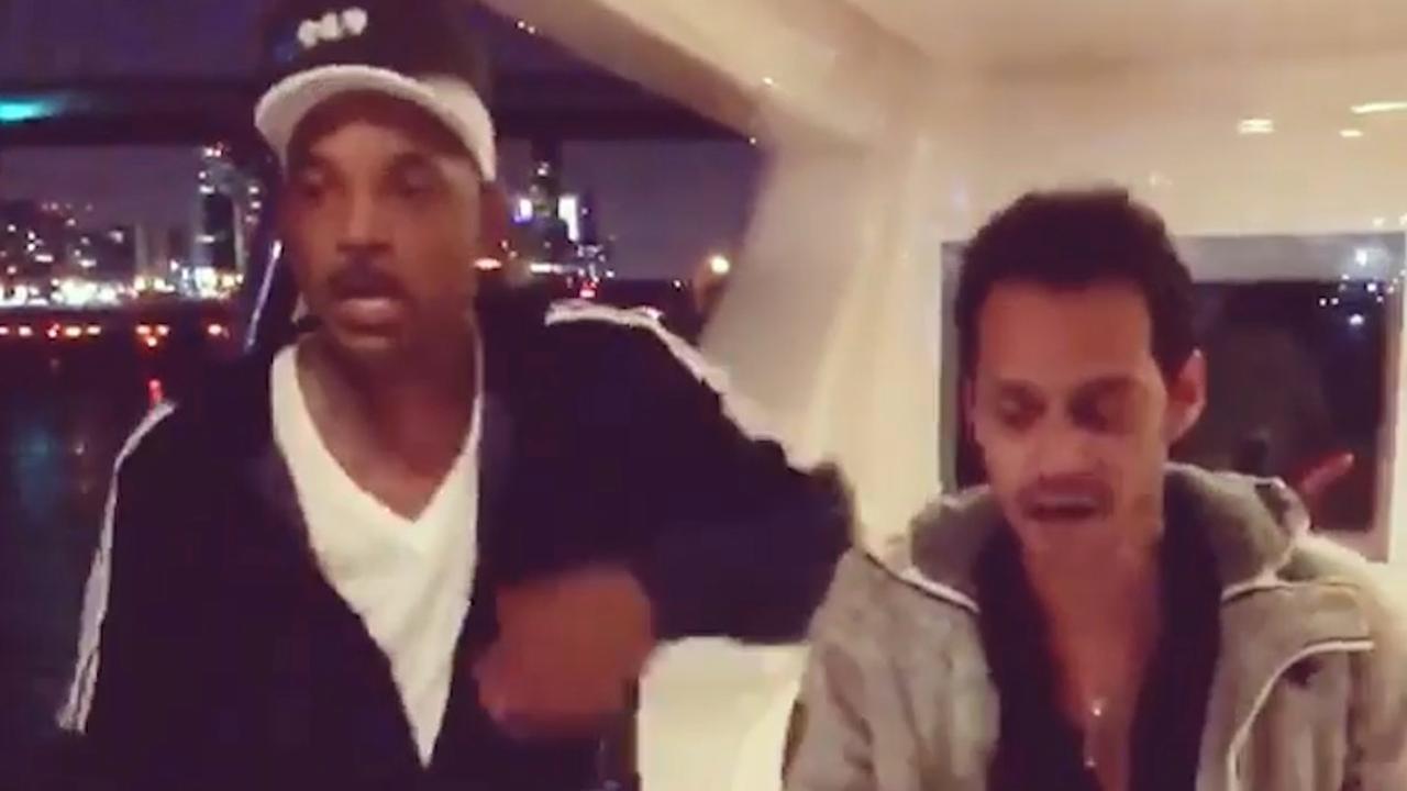 Will Smith krijgt salsales van Marc Anthony