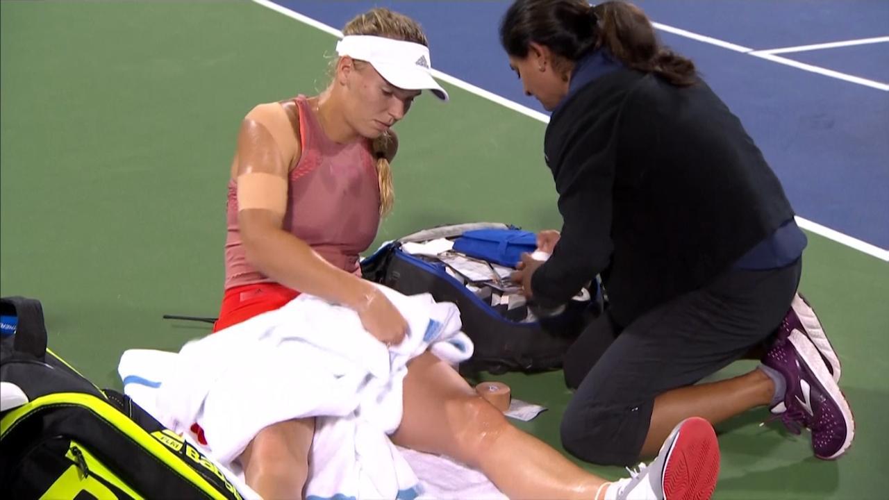 Bertens ziet Wozniacki opgeven in Cincinnati