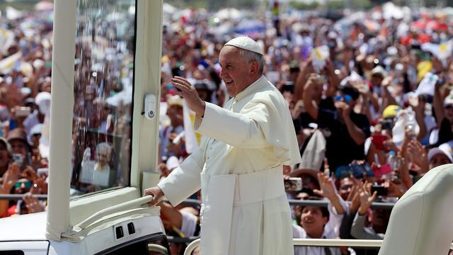 'Miljoen mensen in stad Ecuador om paus'