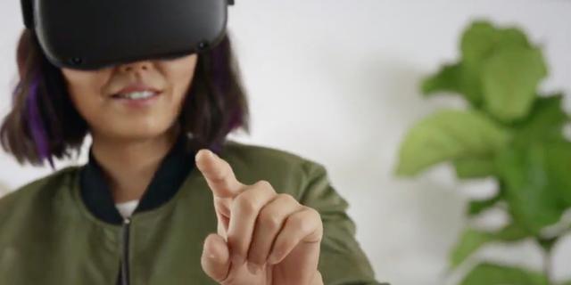 Facebook toont handtracking voor bediening van VR-bril Oculus Quest