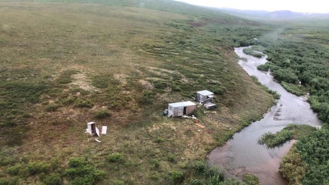 Het afgelegen kamp waar de man werd gevonden.