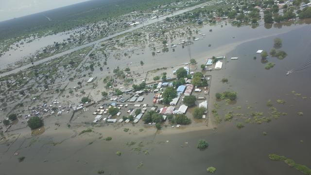 Bijna een miljoen mensen getroffen door overstromingen in Zuid-Soedan