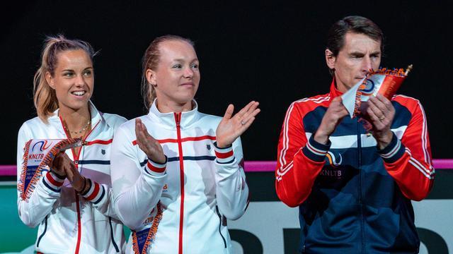 Kiki Bertens en Arantxa Rus gaan waarschijnlijk de wedstrijden in het enkelspel spelen tegen China.