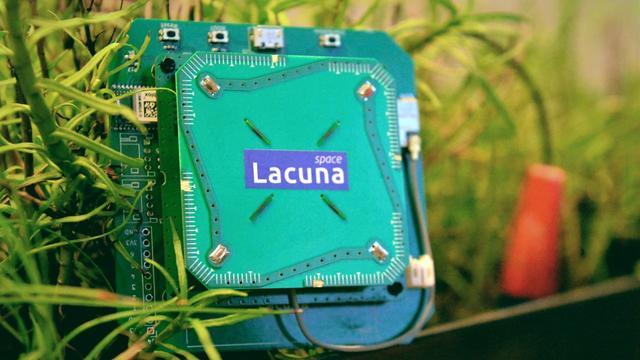 Sensor op plantenenergie maakt contact met satellieten