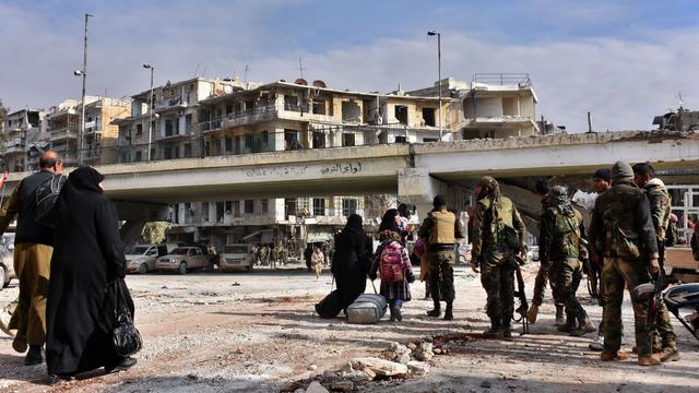 'Syrische leger gestopt met militaire operaties in Oost-Aleppo'