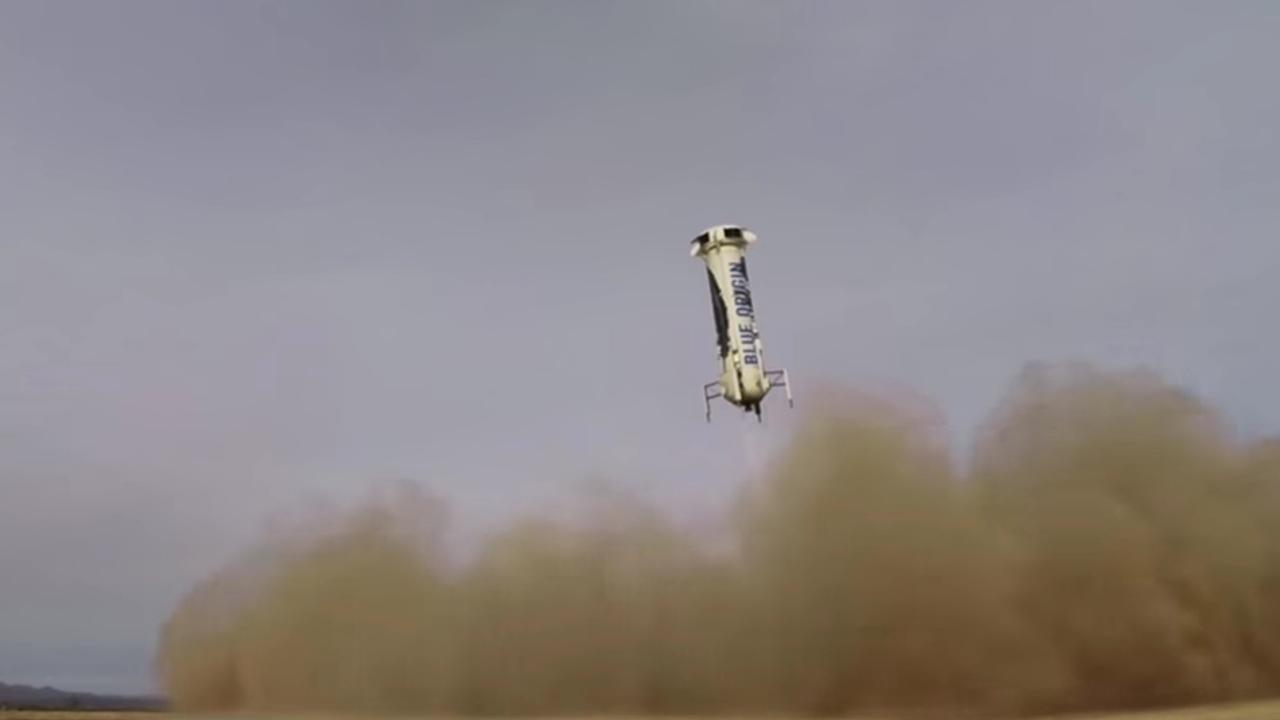 Raketlanding Blue Origin