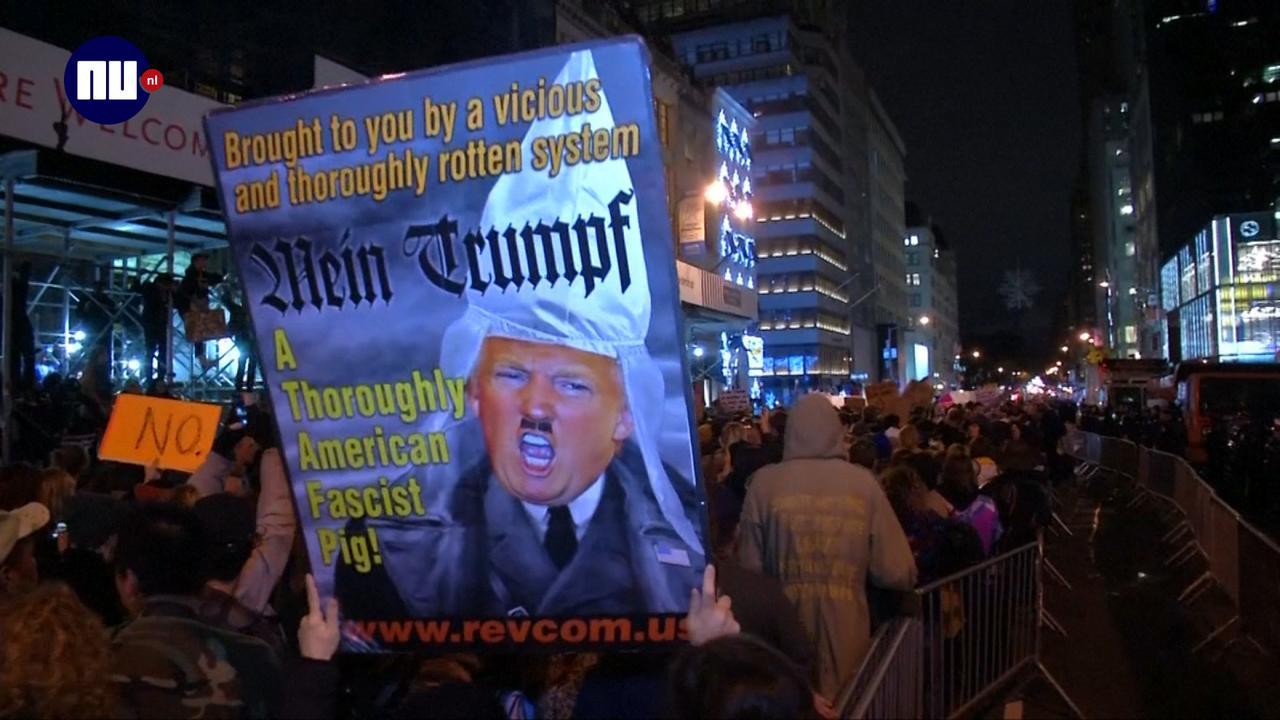 Duizenden anti-Trump demonstranten de straat op in VS