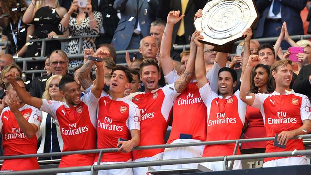 Arsenal wint Community Shield ten koste van Chelsea