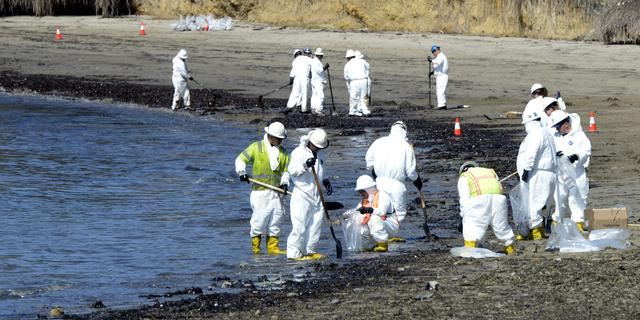 Gouverneur Californië roept noodsituatie uit om olievlek