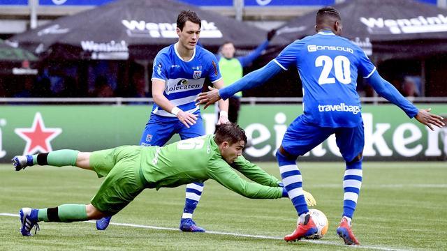 PEC Zwolle en AZ scoren niet, FC Emmen in slotfase naast Heracles