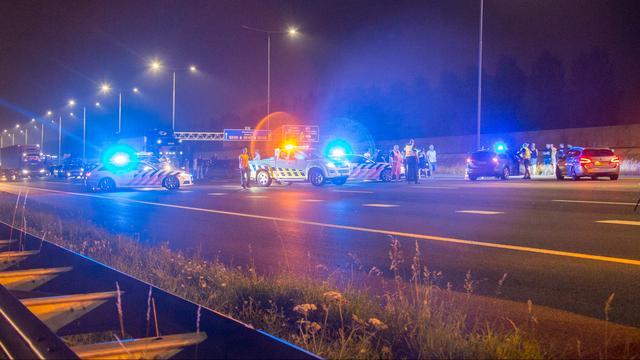 A2 richting Utrecht weer open na ernstig ongeval, geen hinder voor spits