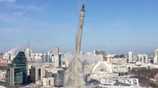 Grote onafgebouwde toren in Rusland neergehaald voor FIFA