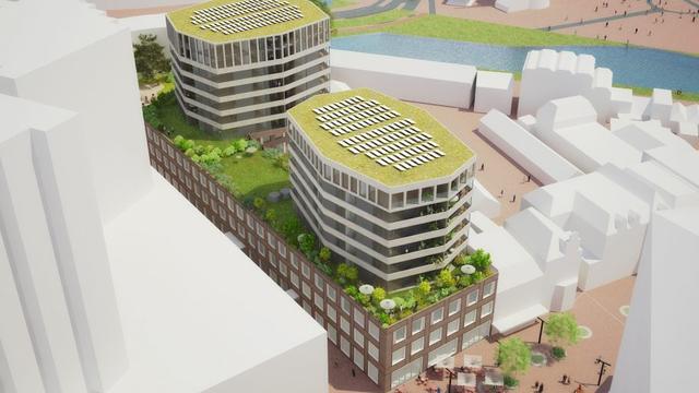 Plannen voor volgend bouwblok stationsgebied Leiden af