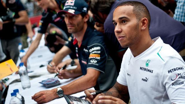 Lewis Hamilton in 2013 in zijn eerste jaar bij Mercedes.