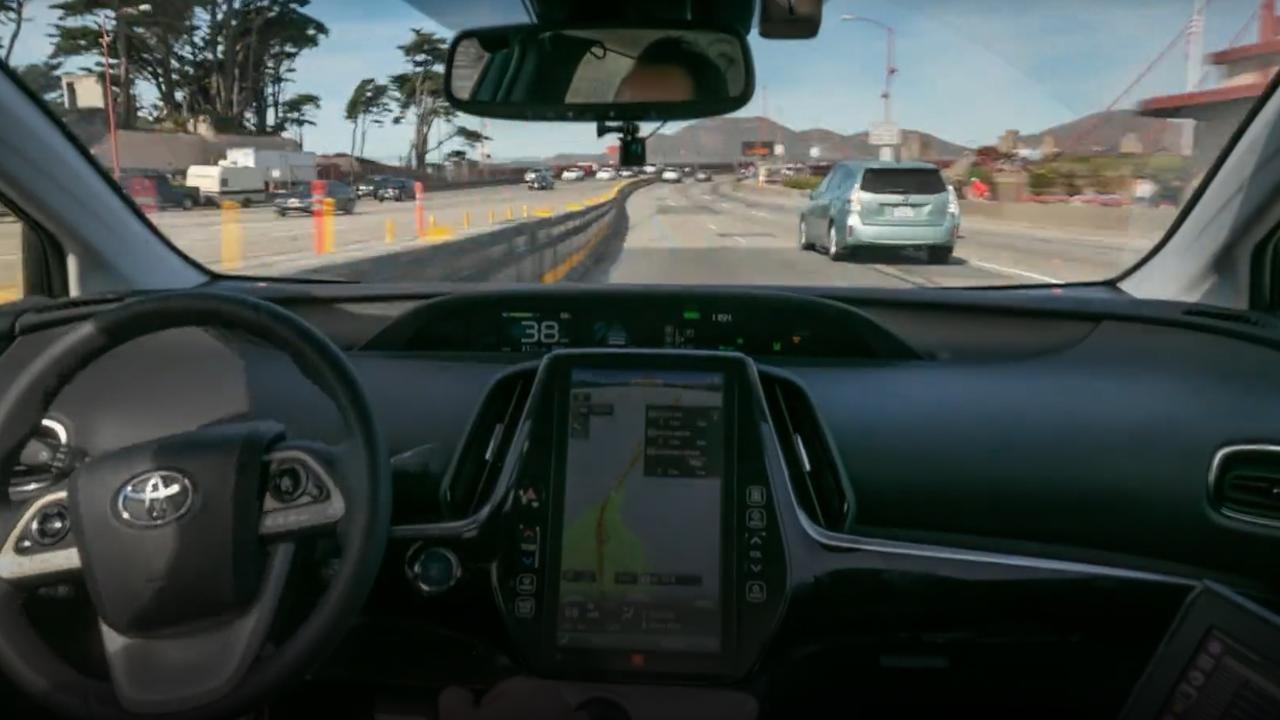 Bekijk hier de rit van Levandowski met de zelfrijdende auto