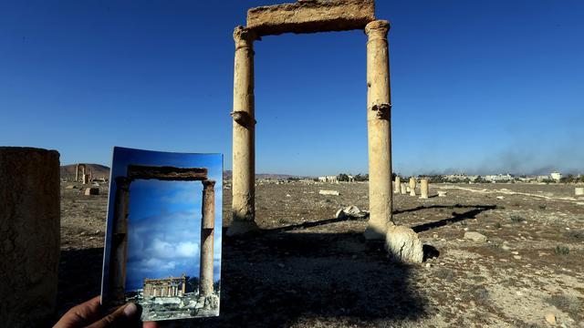 IS-strijders hebben duizenden mijnen bij Palmyra begraven