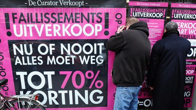 Kredietverzekeraar: Nederlandse faillissementen op laagste niveau in tien jaar