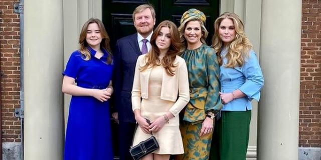Máxima en dochters dragen volgens deskundige Natan-outfit op Koningsdag