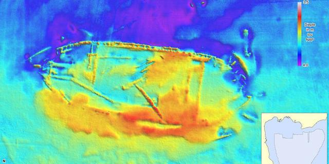Veel scheepswrakken gesignaleerd bij Hoorn, mogelijk Spaanse vloot uit 1573