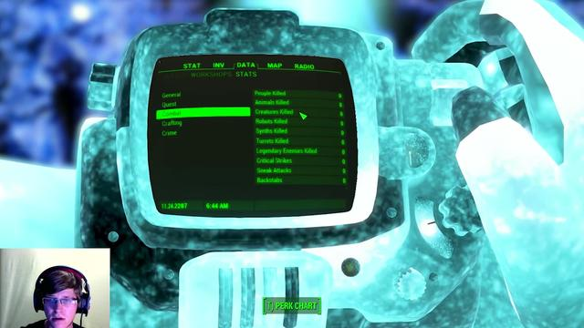 Gamer speelt Fallout 4 uit zonder levens te nemen