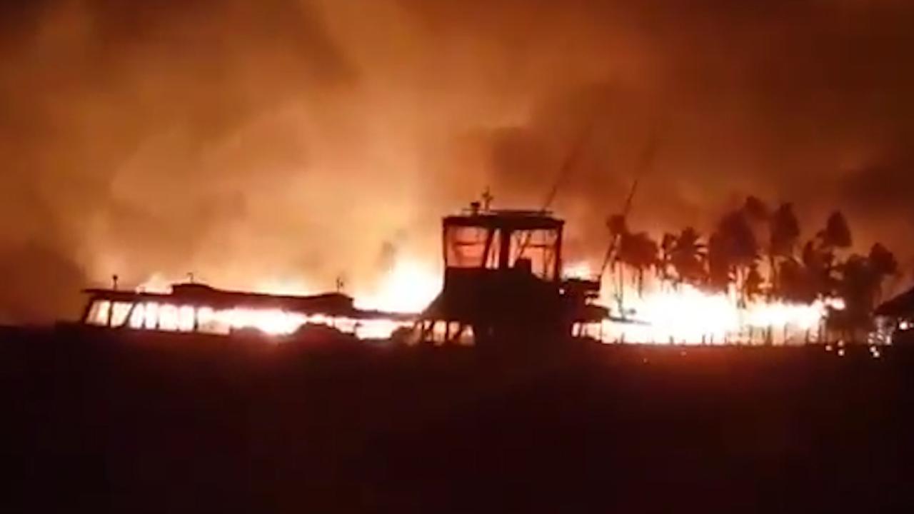 Luxe resort op de Malediven gaat in vlammen op
