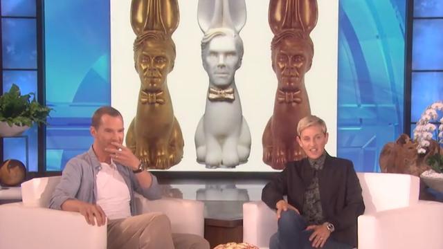 Benedict Cumberbatch reageert op Benedict-chocoladekonijnen