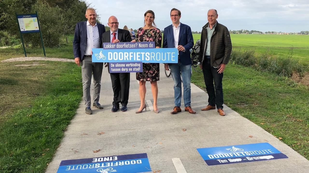 Doorfietsroute tussen Ten Boer en Groningen geopend