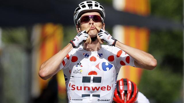 Barguil blijft Quintana voor in korte bergrit Tour, Aru behoudt geel