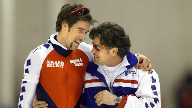 Peter Mueller (rechts) met Gianni Romme in 2000.
