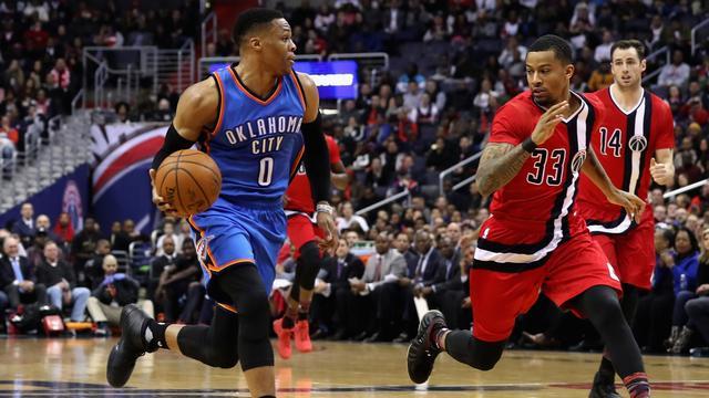 Westbrook maakt 27e 'triple-double' voor Thunder in NBA-seizoen