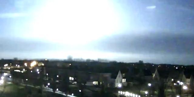 Lichtflits boven Nederland was meteoor die over Duitsland schoot